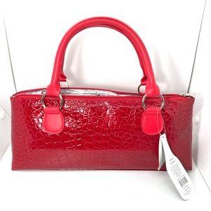Primeware Wine Bottle Clutch Bag Red Crocodile NWT